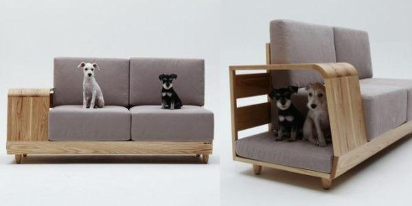A Sofa With Integrated Doghouse | Ideas For Home Garden Bedroom Inside Cat Tunnel Couches (Image 7 of 20)