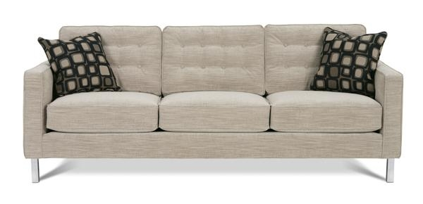 Abbott Sofa N120C With Chrome Legsrowe Furniture With Sofas With Chrome Legs (Image 3 of 20)