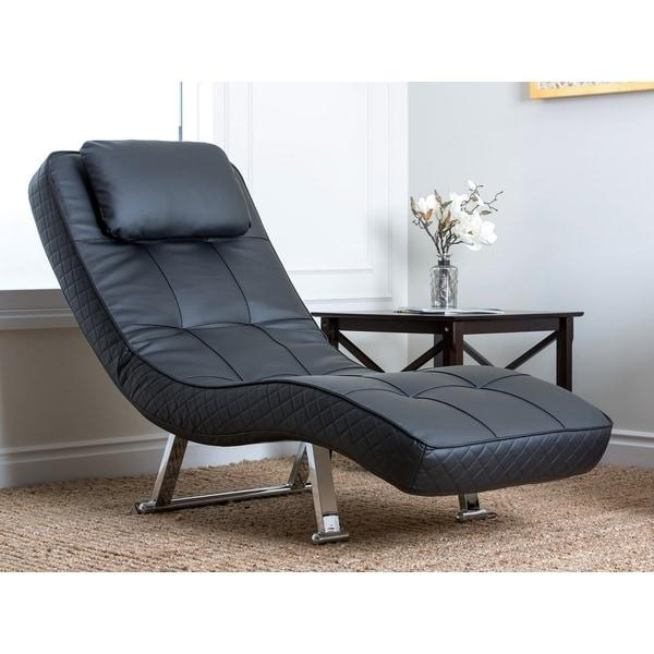 Abbyson Living Capri Black Euro Lounger – Free Shipping Today Pertaining To Euro Loungers (Image 1 of 20)