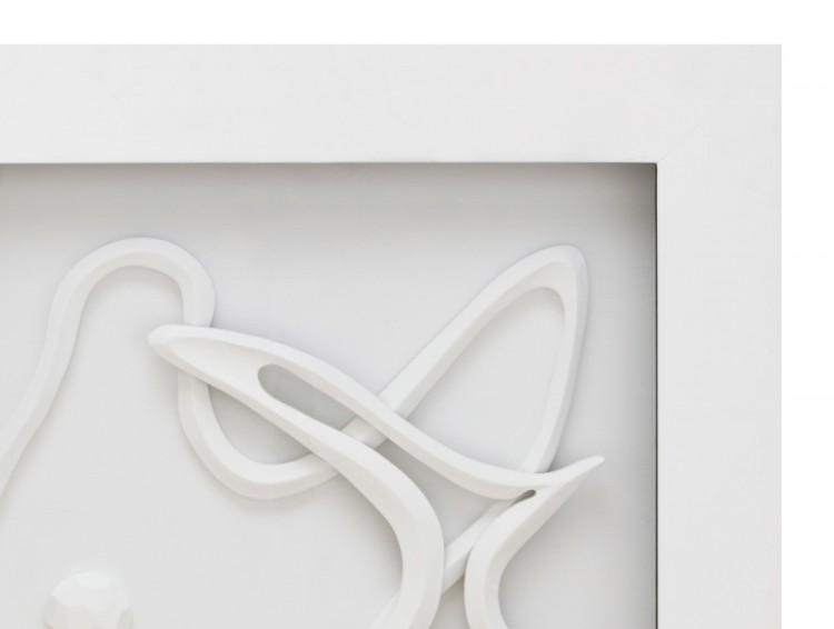 Featured Image of White 3D Wall Art