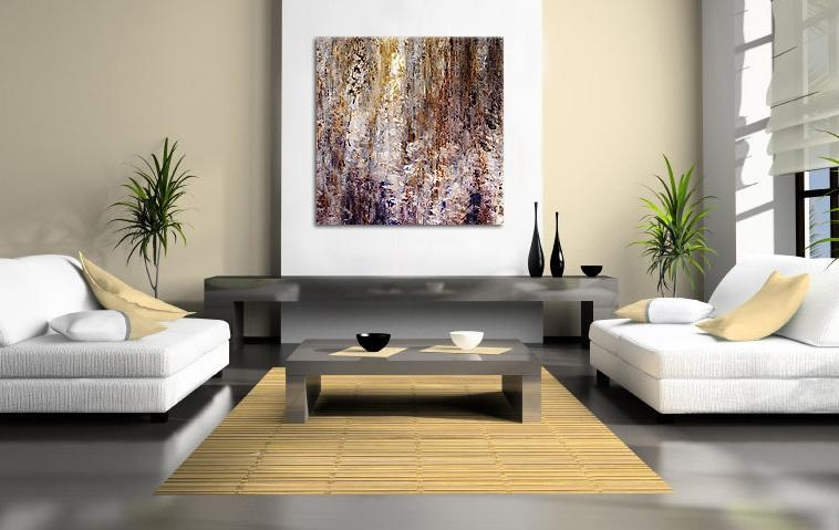 Abstract Art Canvas Print Modern Painting – The Great Good Throughout Oversized Canvas Wall Art (Image 1 of 20)