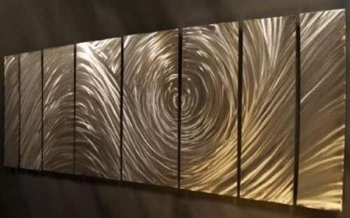 Abstract Metal Wall Artartist Ash Carl In Ash Carl Metal Wall Art (Image 2 of 20)