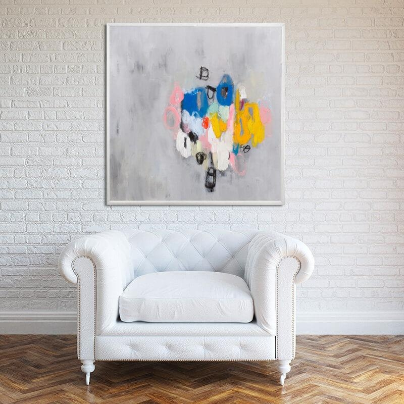 Abstract Painting Giclee Print Large Wall Art Canvas Painting Fine For Large Yellow Wall Art (View 12 of 20)