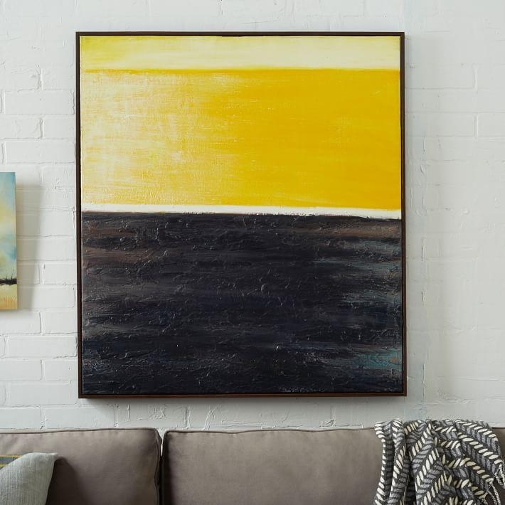 Abstract Wall Art – Yellow | West Elm Within Abstract Wall Art (Image 3 of 20)