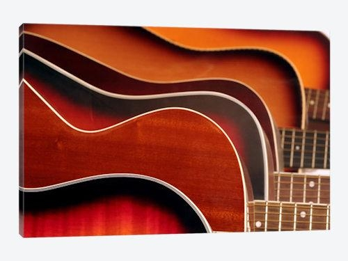 Acoustic Guitar Canvas Print | Icanvas Intended For Guitar Canvas Wall Art (View 6 of 20)