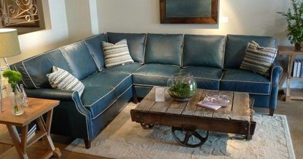 Adorable Blue Leather Sectional Sofa Best Ideas About Leather For Blue Leather Sectional Sofas (Image 1 of 20)