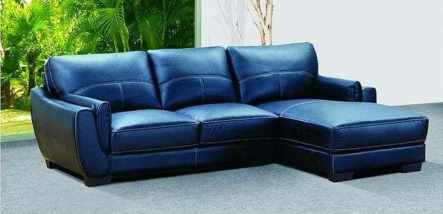 Adorable Blue Leather Sectional Sofa Furniture Blue Navy Leather Pertaining To Blue Leather Sectional Sofas (Image 2 of 20)
