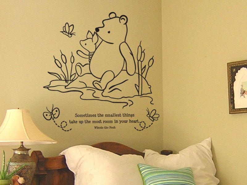 Adorable Winnie The Pooh Wall Decals To Liven Up Your Baby's Room With Regard To Winnie The Pooh Nursery Quotes Wall Art (Image 5 of 20)