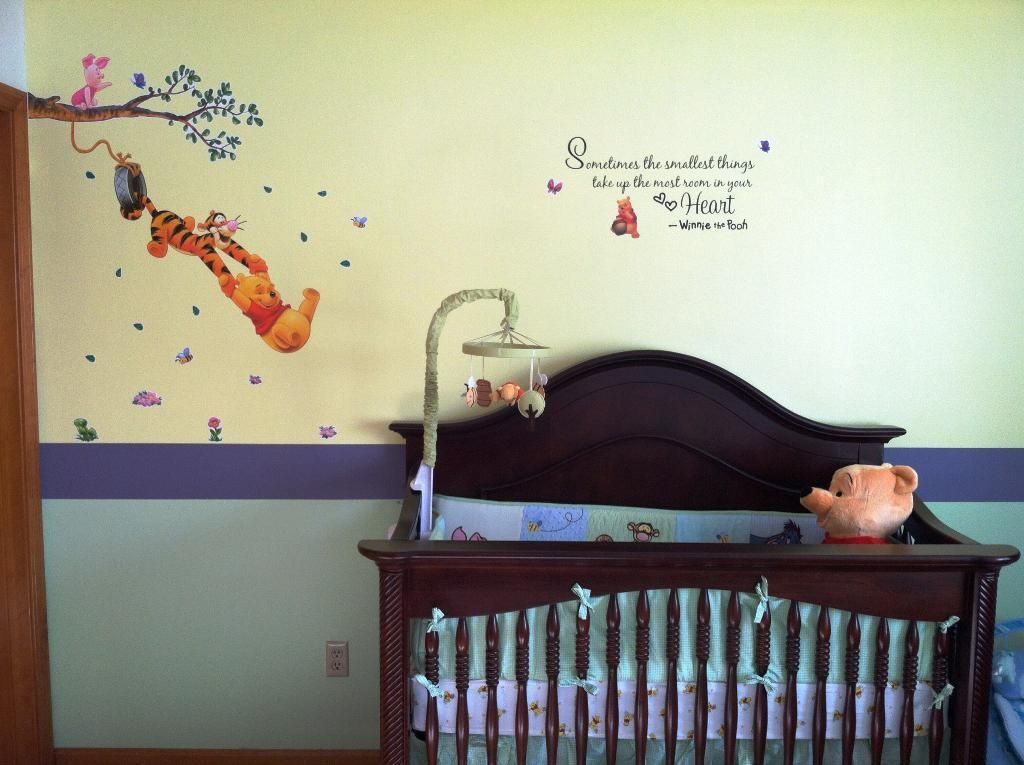 Adorable Winnie The Pooh Wall Decals To Liven Up Your Baby's Room Within Winnie The Pooh Wall Art For Nursery (Image 3 of 20)