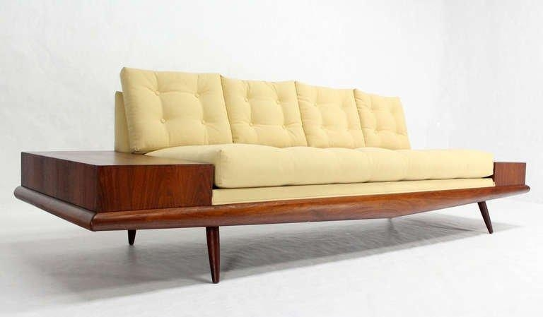 Adrian Pearsall Mid Century Modern Sofa With Walnut End Table, New Inside Danish Modern Sofas (Image 7 of 20)