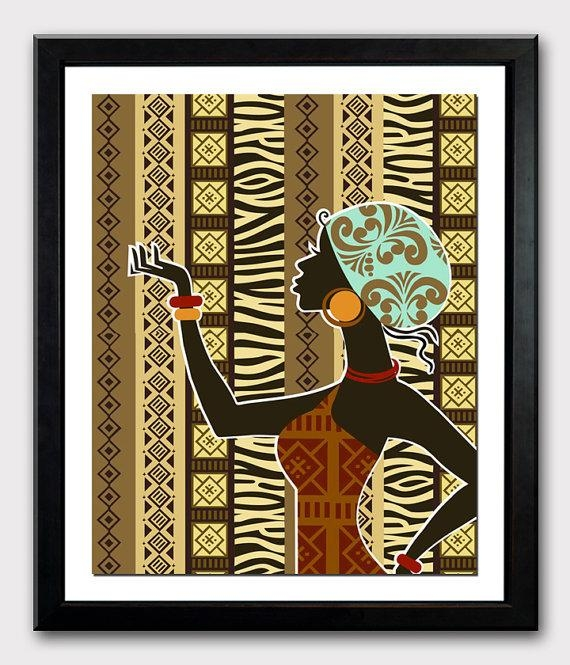 African Artwork African Woman African Painting African Inside African American Wall Art And Decor (View 18 of 20)