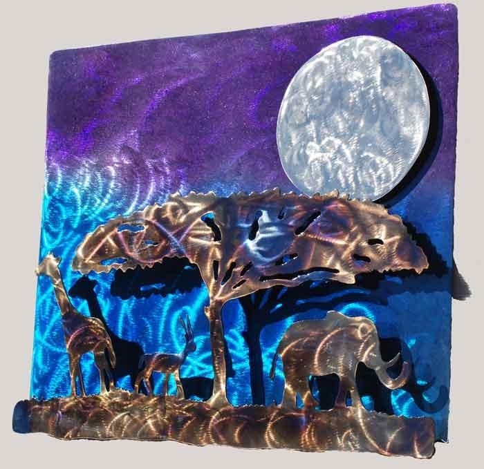 African Night Metal Wall Art – $ (Image 6 of 20)