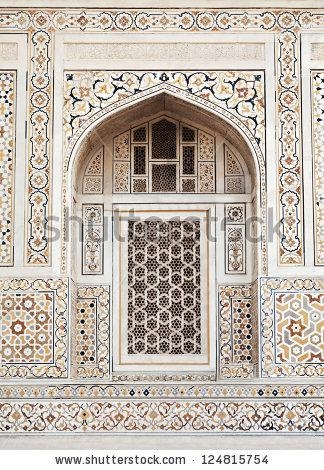 Agra India April 09 Pattern On Stock Photo 124815754 – Shutterstock In Taj Mahal Wall Art (Image 2 of 20)