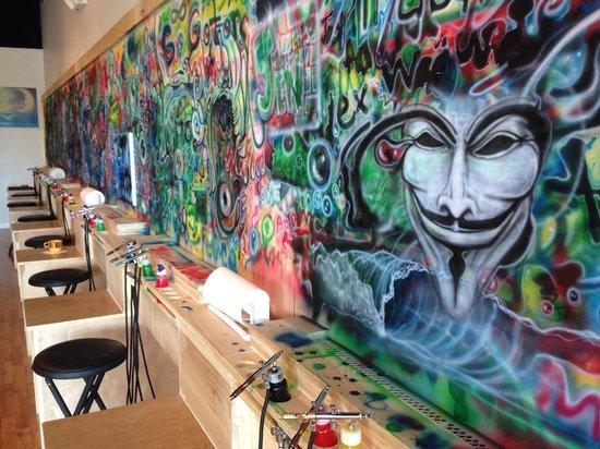 Airbrush Wall!! – Picture Of Blast Studios, Casselberry – Tripadvisor Within Airbrush Wall Art (Image 6 of 20)