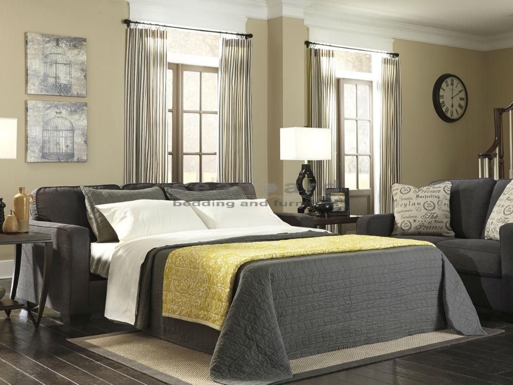Alenya Charcoal Queen Sleeper Sofa 1660139 | Seaboard Bedding Inside Everyday Sleeper Sofas (Image 3 of 20)