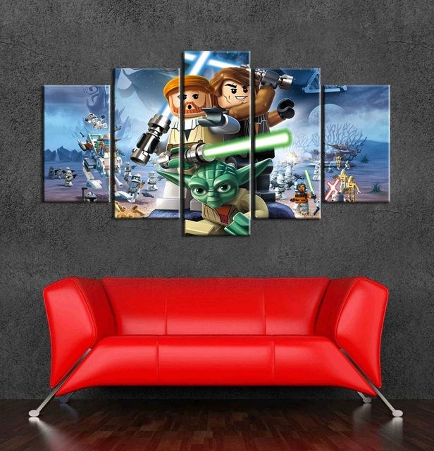 Aliexpress : Buy 2015 Lego Star Wars Wall Art Canvas Painting Pertaining To Lego Star Wars Wall Art (View 5 of 20)