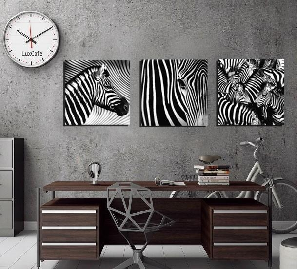 Aliexpress : Buy 3 Panel Wall Art Decorative Paintings Black Intended For Zebra Wall Art Canvas (View 11 of 20)