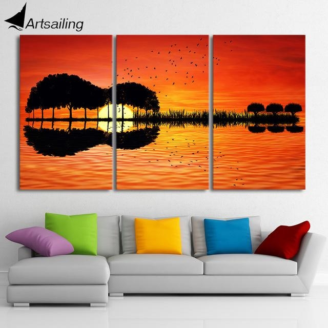Aliexpress : Buy 3 Piece Canvas Wall Art Hd Printed Guitar For Guitar Canvas Wall Art (View 7 of 20)