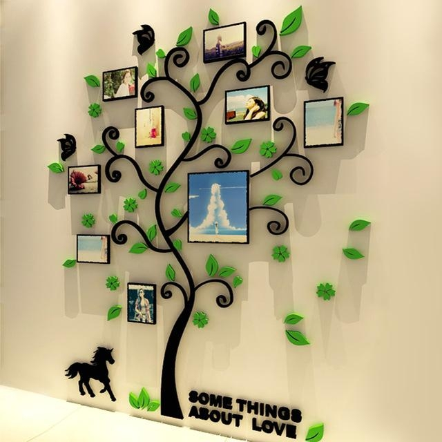 Aliexpress : Buy 3D Acrylic Family Tree Wall Stickers With Within 3D Tree Wall Art (View 19 of 20)