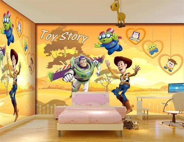 Aliexpress : Buy 3D Room Wallpaper Custom Mural Non Woven Wall Inside Toy Story Wall Stickers (Image 3 of 20)
