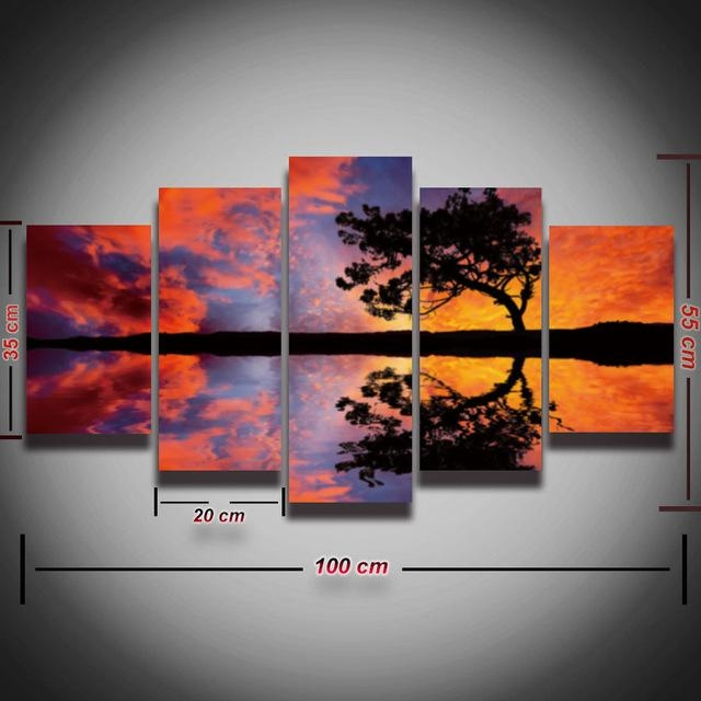 Aliexpress : Buy 5 Panels Printed Modular Picture Canvas With Canvas Landscape Wall Art (View 18 of 20)