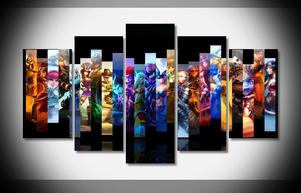 Aliexpress : Buy 5 Pieces Wall Art Irregular Picture Video With Video Game Wall Art (Image 2 of 20)