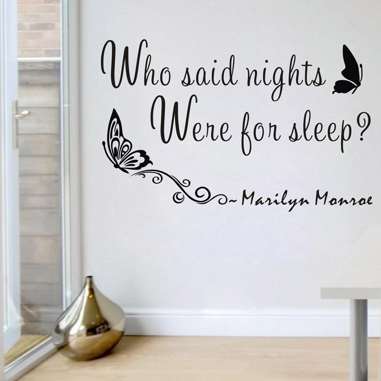 Aliexpress : Buy 5 Styles Marilyn Monroe Wall Sticker Quotes Intended For Marilyn Monroe Wall Art Quotes (Image 7 of 20)