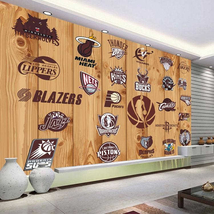 Aliexpress : Buy 5D Papel Murals Nba Basketball Team Logo 3D Throughout Nba Wall Murals (View 18 of 20)