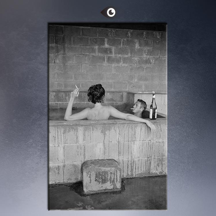 Aliexpress : Buy Actor Steve Mcqueen And Wife Taking Sulfur Within Steve Mcqueen Wall Art (View 20 of 20)