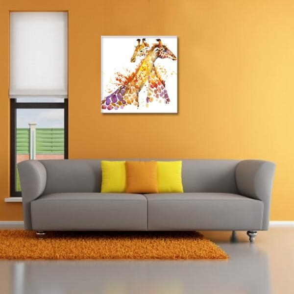 Aliexpress : Buy Animal Canvas Wall Art Abstract Giraffe With Regard To Animal Canvas Wall Art (View 19 of 20)