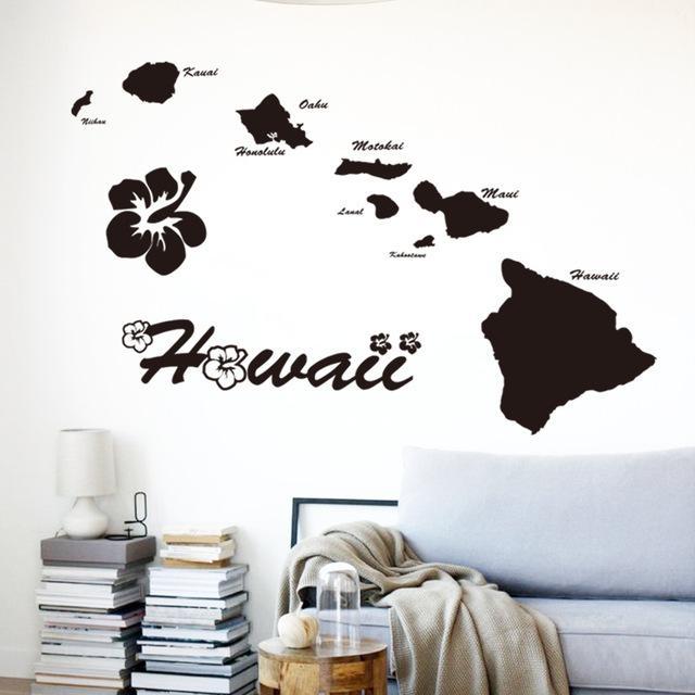 Aliexpress : Buy Art Cheap Vinyl Home Decoration Hawaii For Hawaiian Islands Wall Art (View 10 of 20)