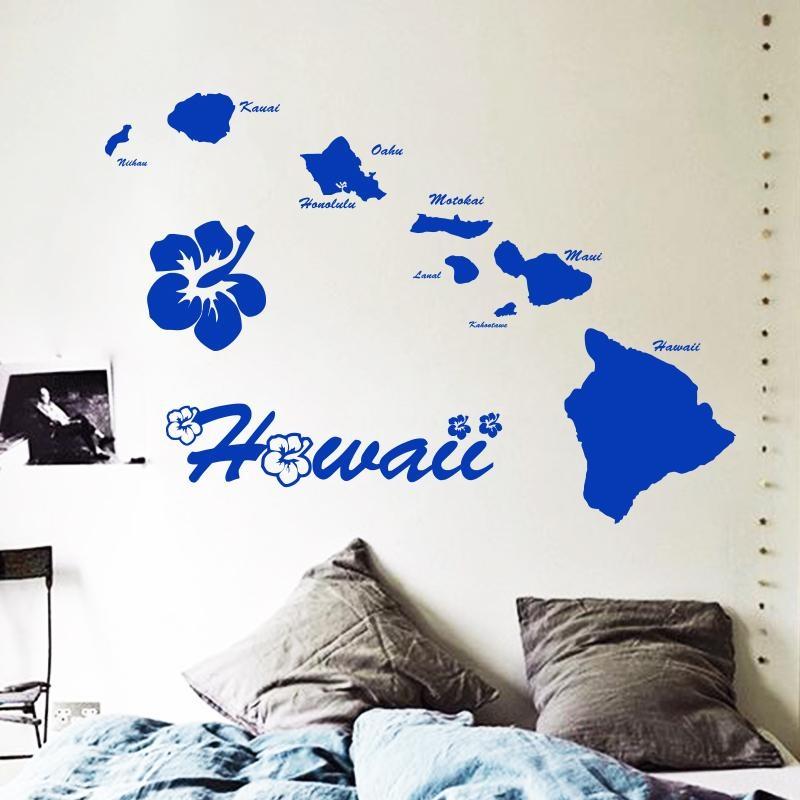 Aliexpress : Buy Art Cheap Vinyl Home Decoration Hawaii In Hawaiian Wall Art Decor (Image 5 of 20)