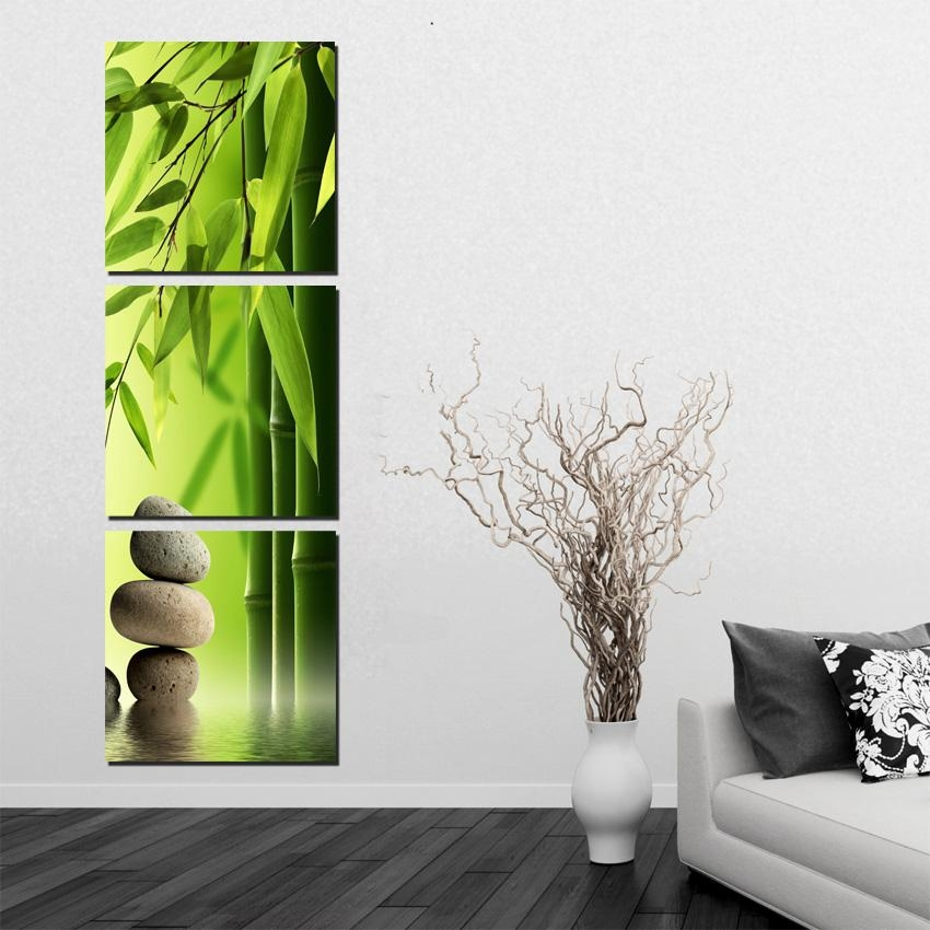 Aliexpress : Buy Atfipan Bamboo Painting On Wall Feng Shui For Feng Shui Wall Art (View 18 of 20)