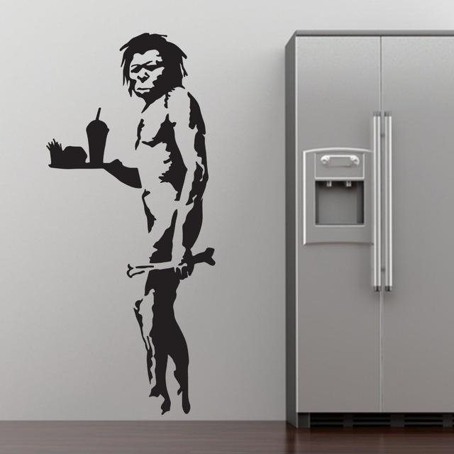 Aliexpress : Buy Banksy Fast Food Caveman Graffiti Wall Art Intended For Graffiti Wall Art Stickers (Image 4 of 20)