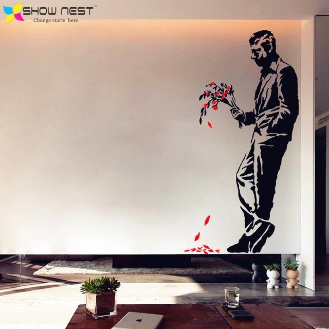 Aliexpress : Buy Banksy Graffiti Art Wall Decal Vinyl Sticker Regarding Graffiti Wall Art Stickers (Image 5 of 20)