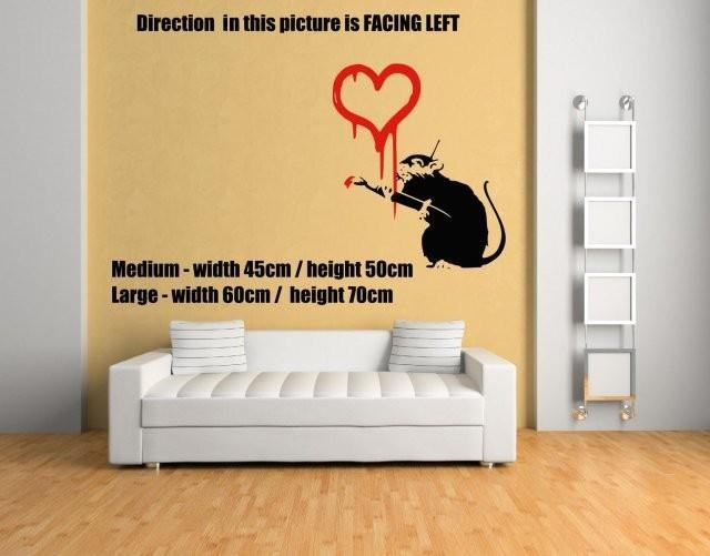 Aliexpress : Buy Banksy Graffiti Love Rat Wall Decal Wall In Graffiti Wall Art Stickers (Image 6 of 20)