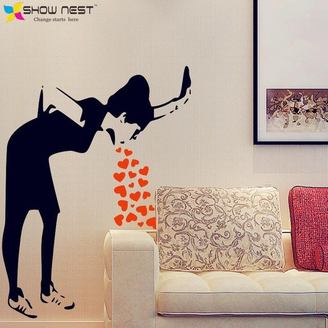Aliexpress : Buy Banksy Graffiti Love Sick Iconic Wall Decal Inside Graffiti Wall Art Stickers (Image 8 of 20)