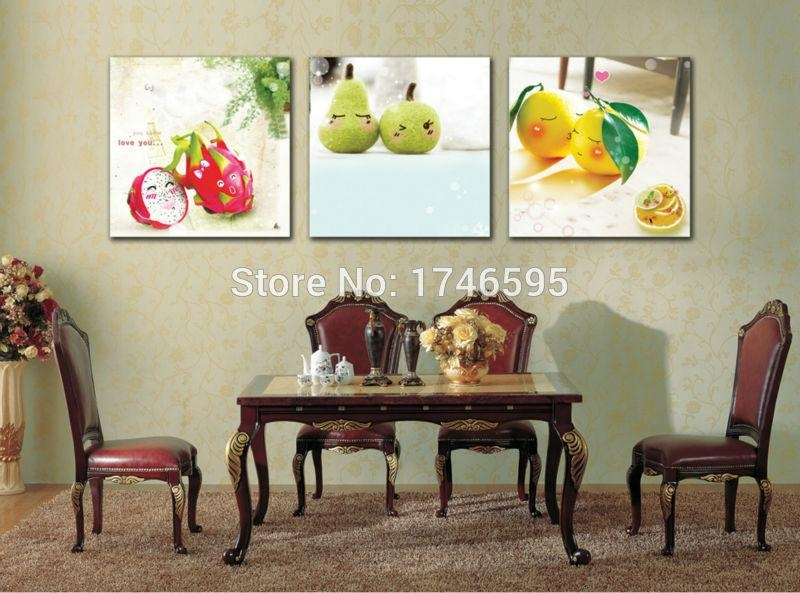 Aliexpress : Buy Big 3Pcs Modern Home Wall Decoration For Dining Area Wall Art (View 10 of 20)