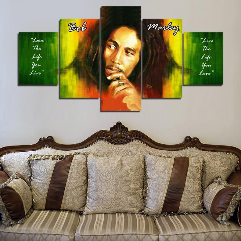 Aliexpress : Buy Bob Marley Hd Canvas Painting Wall Art Game 5 With Regard To Bob Marley Wall Art (Image 3 of 20)