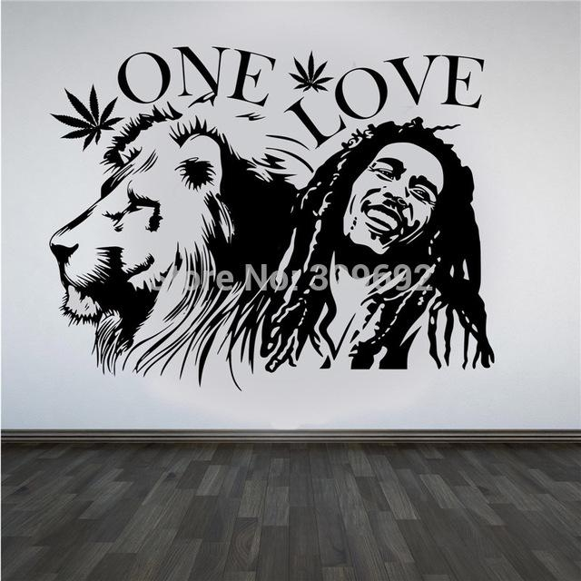 "Aliexpress : Buy Bob Marley Lion Zion ""one Love"" Marijuana For Bob Marley Wall Art (Image 4 of 20)"