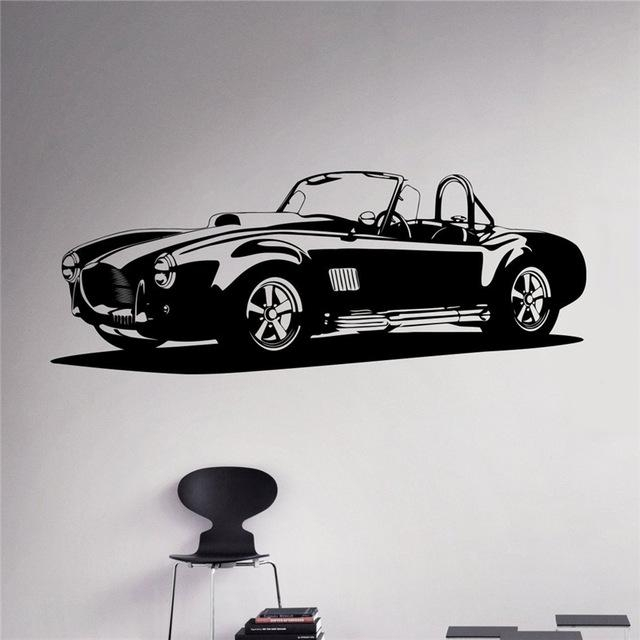Aliexpress : Buy Classic Car Wall Decal Racing Car Vinyl Intended For Classic Car Wall Art (Image 2 of 20)