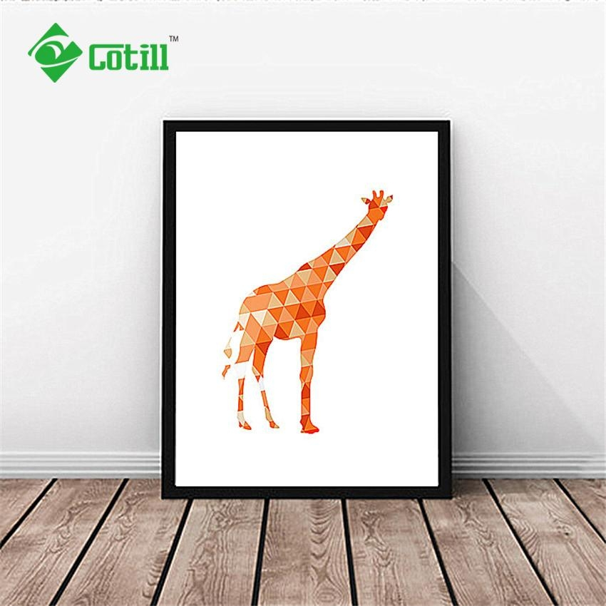 Aliexpress : Buy Cotill Exclusive Design Geometric Orange Pertaining To Exclusive Wall Art (Image 4 of 20)