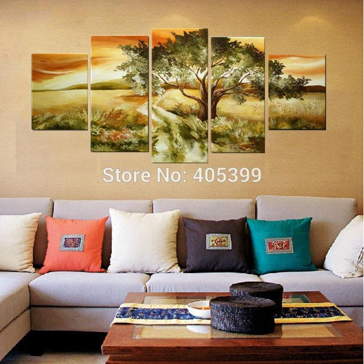 Aliexpress : Buy Country Road Canvas Painting Picture Wall Art With Country Canvas Wall Art (Image 2 of 20)