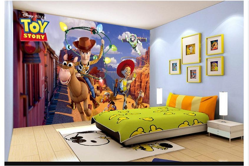 Aliexpress : Buy Custom 3D Photo Wallpaper 3D Wall Murals With Toy Story Wall Stickers (Image 4 of 20)