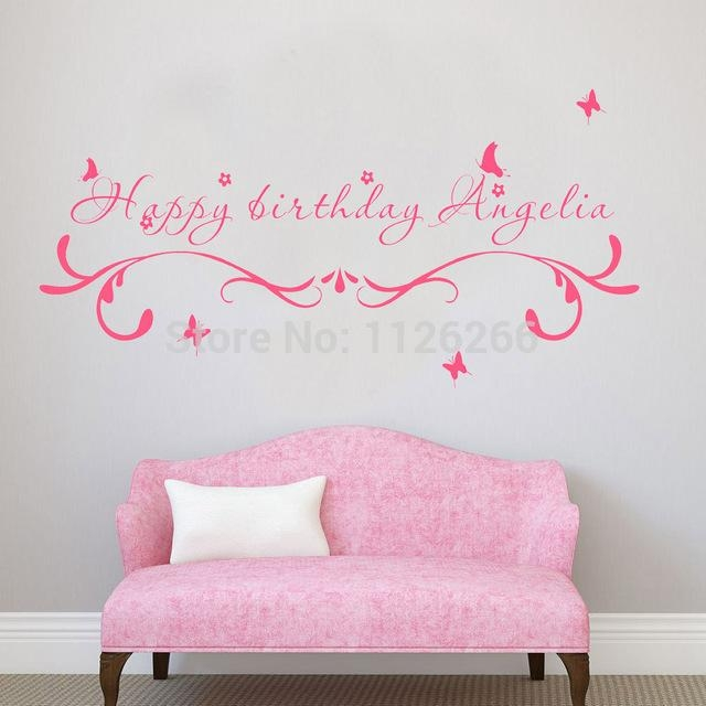 Aliexpress : Buy Custom Made Happy Birthday Creative Wall With Happy Birthday Wall Art (Image 7 of 20)