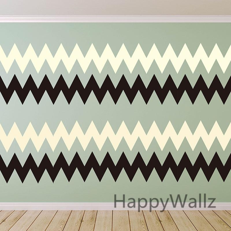 Aliexpress : Buy Diy Chevron Stripes Wall Stickers Decorative Throughout Modern Vinyl Wall Art (Image 3 of 20)