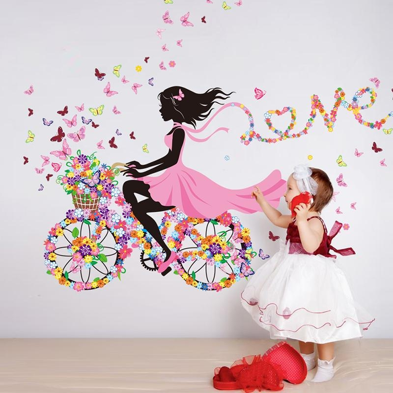 Aliexpress : Buy Diy Wall Decor Ballet Girls Art Wall Stickers For Wall Art For Girls (Image 1 of 20)