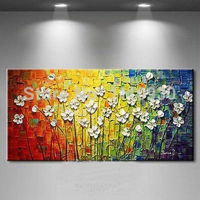 Aliexpress : Buy Free Shipping Handmade Modern Abstract Pertaining To Small Canvas Wall Art (View 12 of 20)