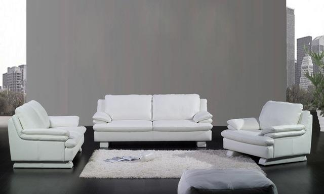 Aliexpress : Buy Free Shipping Modern Design 1 2 3 Classic Regarding Black And White Sofas And Loveseats (Image 4 of 20)