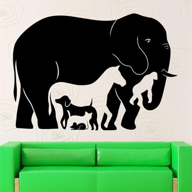 Aliexpress : Buy Fun Animal Collection Wall Decal Vinyl Regarding Animal Wall Art (View 18 of 20)